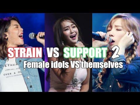 Strain VS Support 2 | K-Pop Female Vocalists VS Themselves
