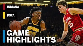 Highlights: Indiana at Iowa | Bohannon Beats the Buzzer to Force Overtime | Big Ten Basketball