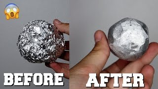 DIY MIRROR-POLISHED JAPANESE TIN FOIL BALL CHALLENGE!