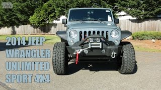 LIFTED 2014 JEEP WRANGLER UNLIMITED SPORT 4X4