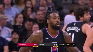 LA Clippers vs. San Antonio Spurs Full Highlights   12/18/17