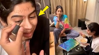 Video: Janhvi Kapoor's cute moment with sister Khushi..