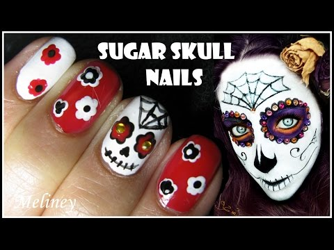 Baixar HALLOWEEN NAIL DESIGN SUGAR SKULL NAIL ART TUTORIAL MEXICAN DAY OF THE DEAD EASY SIMPLE
