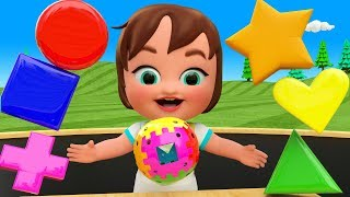 Colors & Shapes for Children to Learning with Little Baby Girl Fun Play Magic Balls Shapes 3D Kids