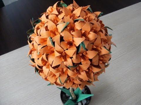 Liliowiec - jak wykonać - origami modułowe