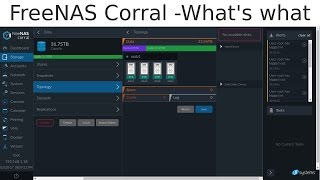 FreeNAS Corral - What's what - Beautiful Web Interface