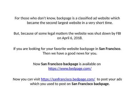 Backpage San Francisco