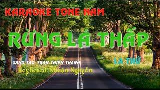 Rừng Lá Thấp Karaoke nhạc sống Tone Nam