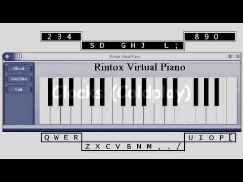 Coldplay - Clocks - Virtual Piano