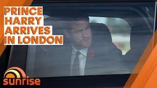 PRINCE HARRY arrives in London after Oprah interview controversy | 7NEWS