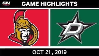 NHL Highlights   Senators vs Stars – Oct 21 2019