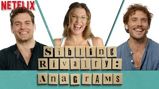 Millie Bobby Brown, Henry Cavill, & Sam Claflin Play Anagrams | Enola Holmes | Netflix