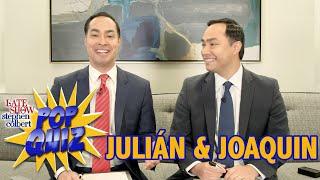 Pop Quiz With Joaquin And Julián Castro