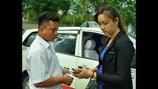 Cô gái xinh đẹp xin ông Hải đừng phạt tài xế taxi - Tin tức mới