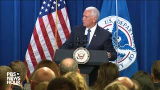 WATCH: VP Pence, DHS Secy. Nielsen deliver remarks to ICE employees