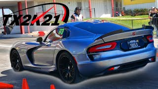 TX2K21 Roll Racing  /  200 mph + Calvo MotorSports Turbo Vipers Destroyed by T1 R35 GTRs