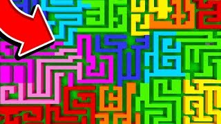 IMPOSSIBLE MINECRAFT RAINBOW MAZES!