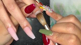 Acrylic Nails Tutorial | Ombré Nails | Acrylic Coffin Nails