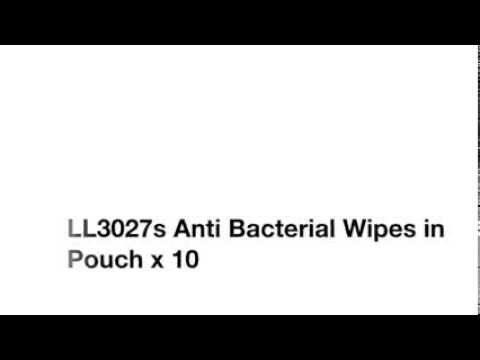 LL3027s Anti Bacterial Wipes in Pouch x 10 - QJ009