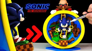 "SONIC the Hedgehog and Dr. ""Eggman"" Robotnik Diorama - Clay Art"