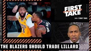 Stephen A. proposes a Damian Lillard-Anthony Davis trade | First Take