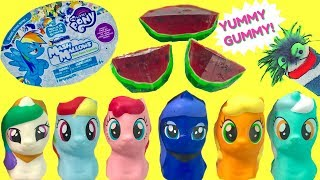 Opening My Little Pony Mashems Mash Mallows and a Gummy Watermelon
