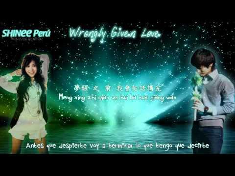 Zhang Li Yin feat Kim Jonghyun - Wrongly given love [Hanzi,Pinyin,Traducción ]