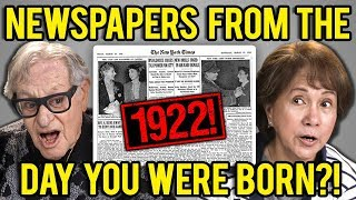 ELDERS REACT TO NEWSPAPERS FROM THE DAY THEY WERE BORN?!