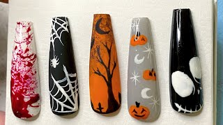 Halloween nail designs in depth tutorial | Halloween nails | Halloween nail art tutorial