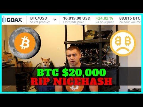 BTC 20k - NiceHash Hacked 100 million - Selling Alt Coins for Bitcoin - BTC Mining