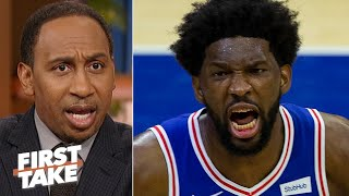 Stephen A. is not impressed with the 76ers' win vs. the Celtics | First Take