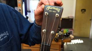Watch the Trade Secrets Video, Dick Boak of Martin Guitars talks about pre-war tenors