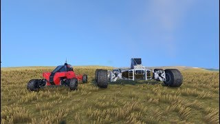 Space Engineers | Rover crash compilation.