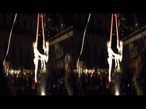 Aerial Duet performers @ Yerba Buena Night (YT3D:Enable=True)