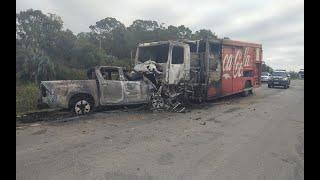 Homem morre em colisão frontal entre caminhonete e caminhão na BR-471, em Santa Vitória do Palmar