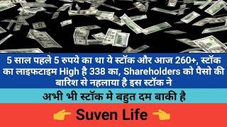 Suven Life Science, 5 साल पहले 5 रुपया का था और आज 260+ हो गया 😱 (Hindi)