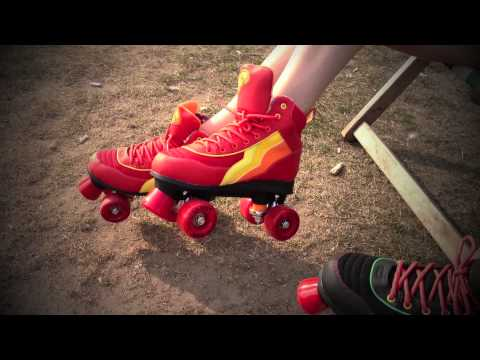 Video RIO ROLLER Roller Quad VARSITY (Petites pointures) Bleu or