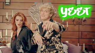 "Outta My Hair but every time Logan Paul says ""you"" a YEET Vine plays"