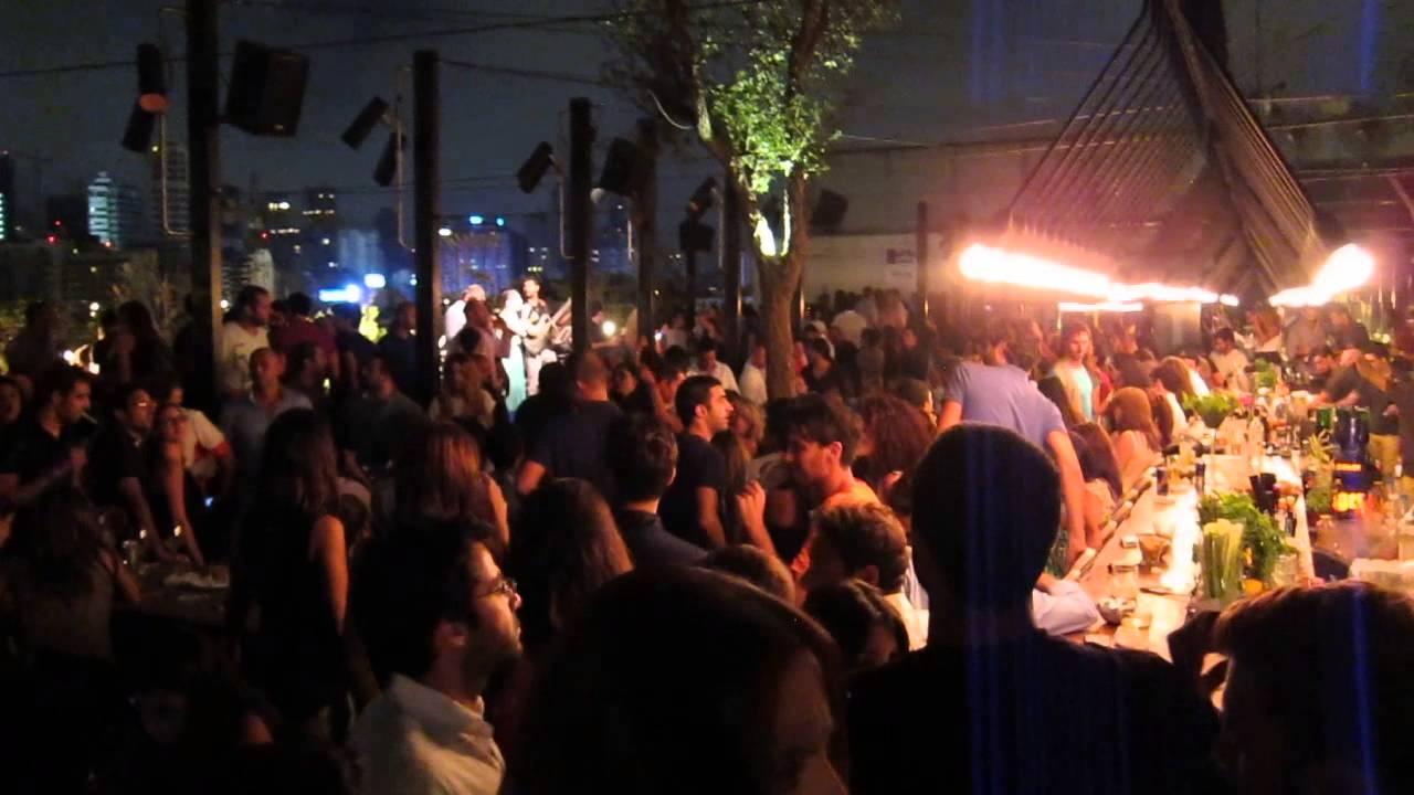 Xriss singing at Iris Rooftop party in Beirut, Lebanon ...