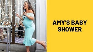 Amy Jackson Gets An All-Blue Themed Baby Shower..