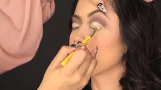 Cut crease step-by-step eyeshadow tutorial