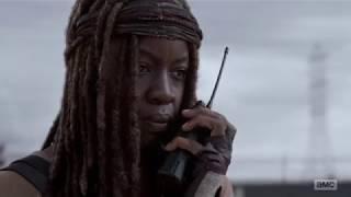 The Walking Dead 8 x 15 - Michonne Reads Carl's Letter to Negan