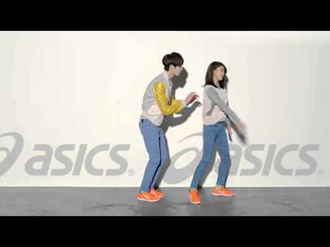 Ha Ji Won & Lee Jung Suk - Dancing with Asics G1 Orange shoes 02.27.2013