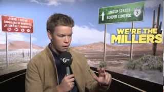 Will Poulter meets Rhianna for We're The Millers