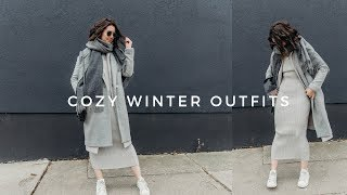 COZY OUTFIT IDEAS | comfy, casual fall/winter outfit ideas (2018) ❄️