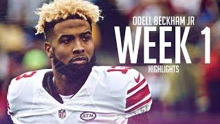 Odell Beckham Jr - FULL 2018 Week 1 Giants Highlights (vs Jaguars)