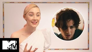 Saoirse Ronan On Her Love For Timothee Chalamet & Lady Bird Sex Scene BEHIND THE SCENES | MTV Movies