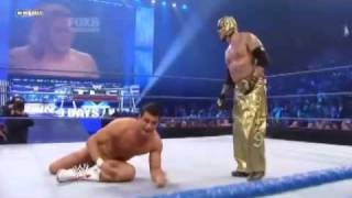 WWE Friday Night Smackdown 2010 12 10 : Rey Mysterio & Edge vs Kane & Alberto Del Rio