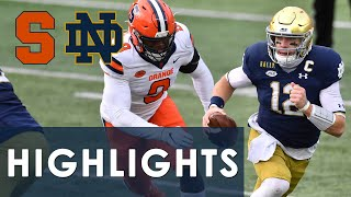 Syracuse vs. Notre Dame | EXTENDED HIGHLIGHTS | 12/5/2020 | NBC Sports