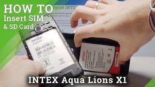 How to Put Nano SIM and SD Card into Aqua Lions X1 – Insert SIM and SD Card